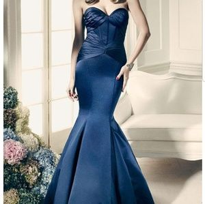 Truly Zac Posen corset fit & flare gown